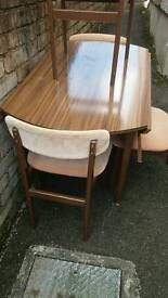 Vintage formica drop leaf table & 4 chairs Now £5 this week only!!