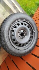 4x good year tyres on rims and hub covers. 205 / 60 x 16, 5 stud