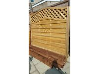 Brand New Premium Quality Fences with Wooden Posts