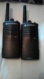 Motorola xtni walkie talkies x2 like new perfect working order