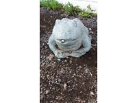 Bronze toad fountain/water feature