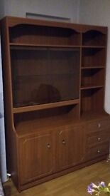 Cabinet with cupboards drawers and shelving
