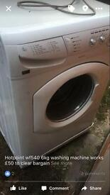 Hotpoint wf540 6kg washing machine works bargain £50