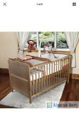 Isabella cot and junior bed with storage drawer, changing table and bed linen