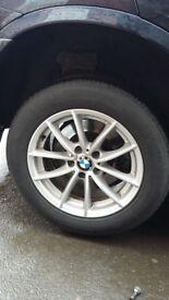 "BMW X3 17"" ALLOY WHEELS GENUINE"