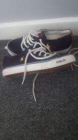 Ralph lauren canvas shoe size 13. Excellent