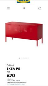 IKEA locable twin bright red cabinet