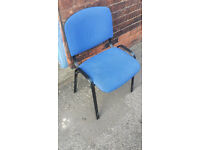 BLUE OFFICE CHAIRS 8 AVAILABLE