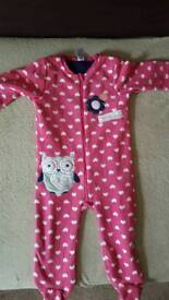 Girls 12-18 month old all in one pjs