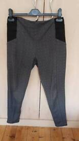 River island leggings with elasticated panels size 12