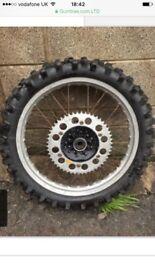 Yamaha yz 125/250 pair of wheels