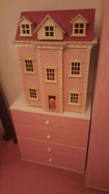 Wardrobe, set of draws and wendy house