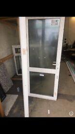 White UPVC door 930mm x 2080mm