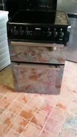 Beko nearly new black ceramic cooker 60 cm glass mirror doors