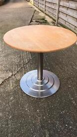 Round side table/coffee table.