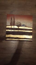 Brown/bronze/gold canvas