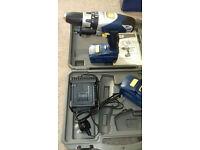 Draper 18v cordelss drill 2x batteries