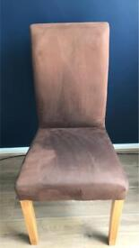 Brown Suede Effect Chair