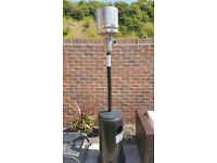 Rattan Direct Aegean 13.5kW Stainless Steel Water Resistant Gas Patio Heater - Black & Silver Dome