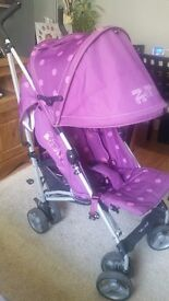 Stroller used but seat and hood are compitely NEW