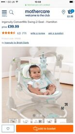 Immaculate condition baby swing, hardly used with box