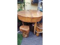 Garden Tables & Stools Hand Made & Hard Wood Based in East London Hackney