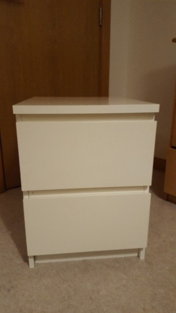 Ikea Malm Bedside Table White
