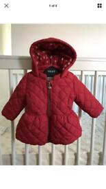 Baby girls NEXT coats and snow suits 3-6 months