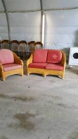 2 seater and 1 seat cane set