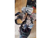 Set of high quality clubs and bag