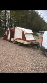 2 berth combicamp fixed double bed
