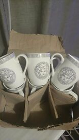 Versace Medusa Cups For Sale.(6 pieces)