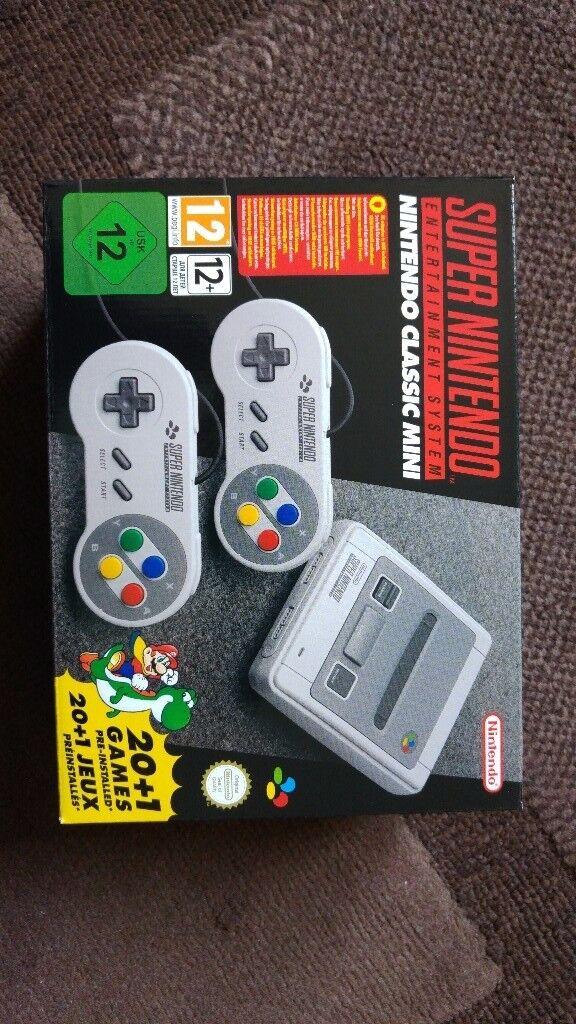 * Brand New * Unopened * Super Nintendo Mini SNES Console *