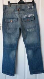 New Mens Designer Limited Edition Eto Jeans Eto Raw 9901.