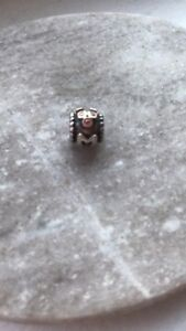 Authentic Pandora MOM charm with gold embellishments