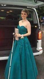 Prom dress Alyce Size 8 Teal