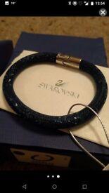 Genuine Dark Blue Swarovski Stardust Bracelet in Box