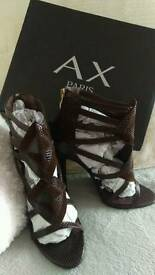 Brand new with box snake skin effect heels