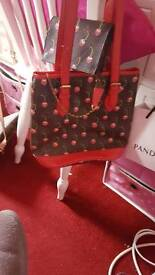 GENUINE LOUIS VUITTON MARKAMI CHERRY BAG WITH MATCHING PURSE AND COIN PURSE