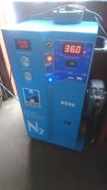 Hofmann NG90 fully automatic nitrogen generator/inflator machine for tyre fitting.