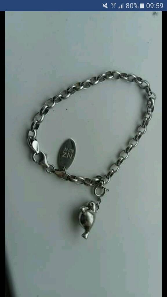NZ Mint Sterling Silver Bracelet