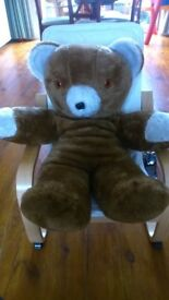 VINTAGE 60s 70s BROWN TEDDY BEAR MADE IN UK BY CUDDLES GALORE