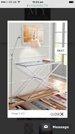 'My Furniture' Glass and Chrome Console Table