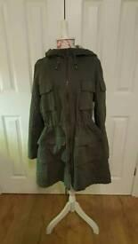 Marks and Spencer dark green parka jacket