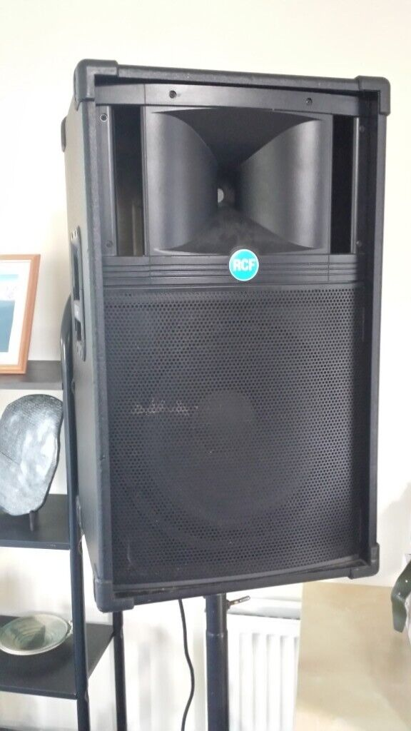 RCF Performer Passive PA Speakers with Heavy Duty Tripod Stands and  cabling  | in Comber, County Down | Gumtree