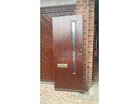 Scandinavian (Boda) solid wood front door. 202cm height. 83cm width. 6 cm depth. Lock & 5 keys inc.