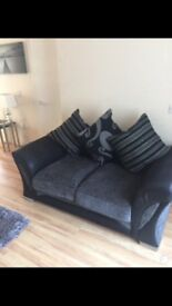3+2 charcoal and grey sofa suite