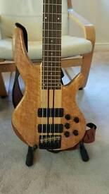 Bass Guitar - Overwater Progress 3 deluxe 5 string bass guitar