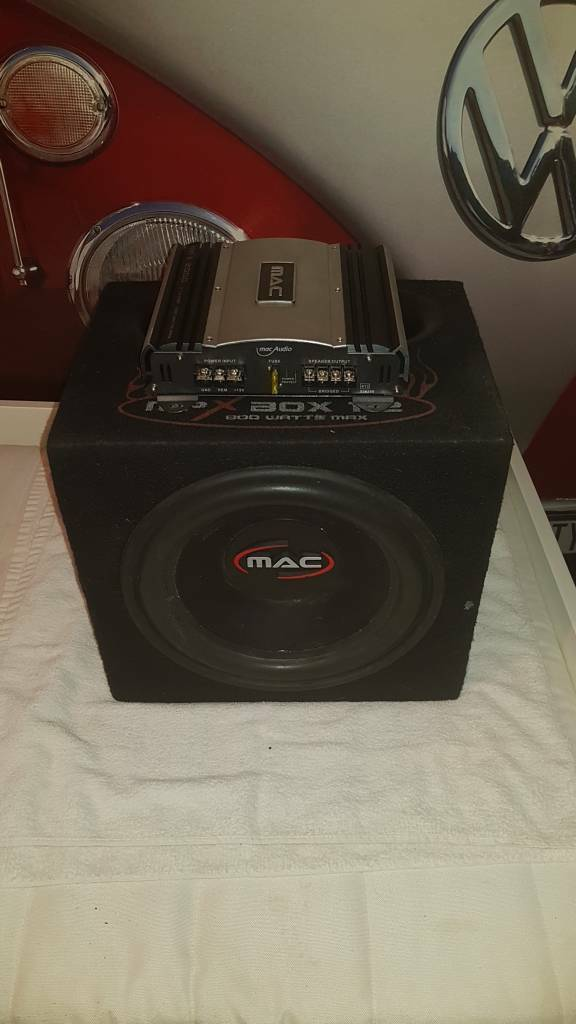 MAC Car Subwoofer and AMP