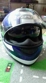£40 or best offer Viper helmet with built in sun shades